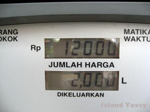 ガソリン・スタンドのメーター