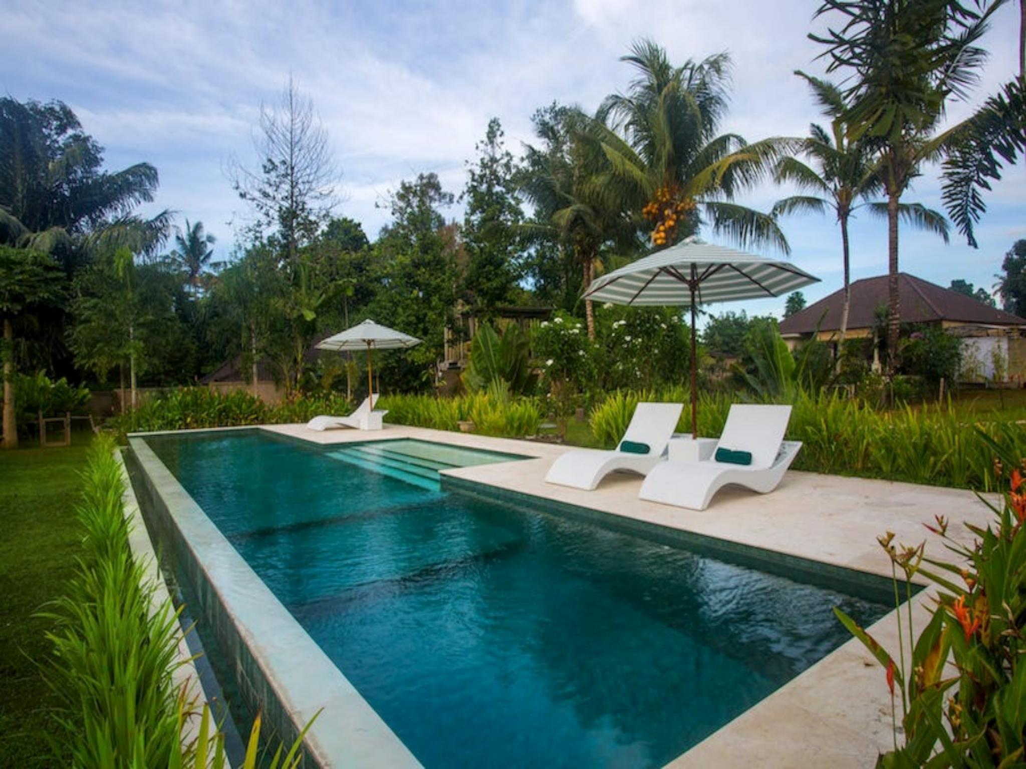 Vista garden villa 1 bed large pool central Ubud ホテル詳細