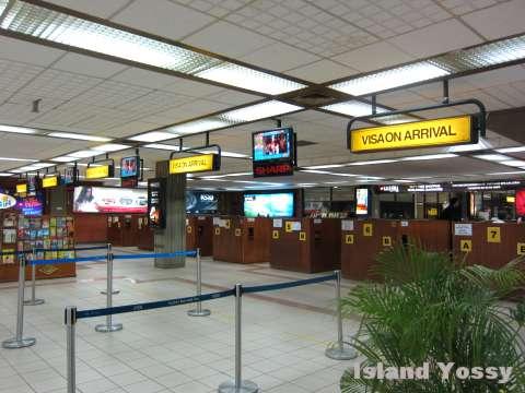 デンパサール空港 イミグレーション