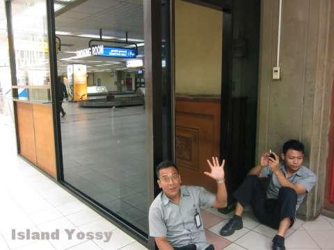 空港内の喫煙室