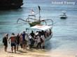 初めてのレンボンガン島 バリ島とは違う青い海ですね